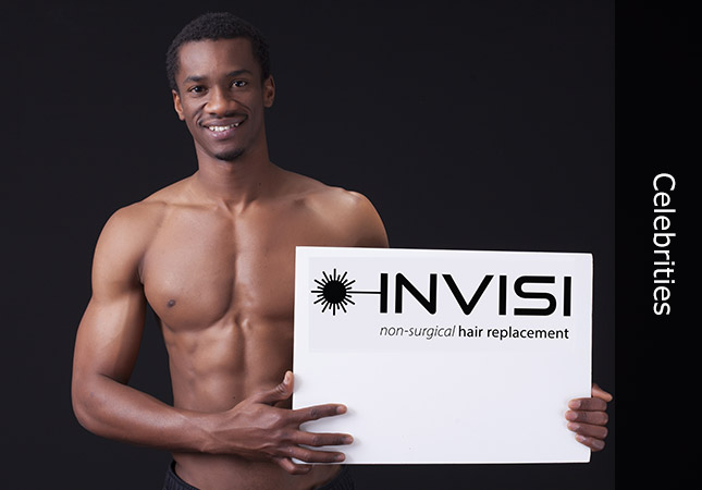 Black man publicising Invisi hair ideas