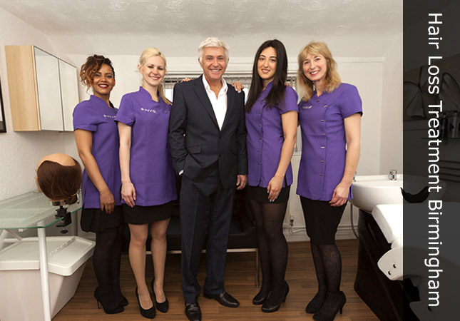 Team members at the Invisi hair loss treatment clinic in Birmingham UK