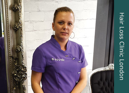 Hair loss specialist Natasha Griggs at Invisi Hair London clinic