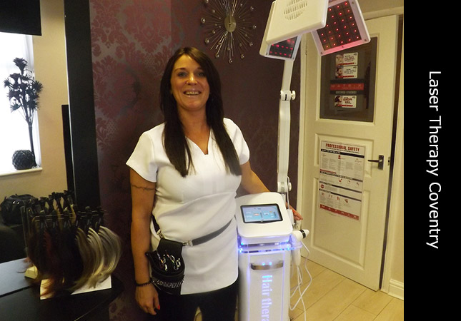 Michaela the Laser Hair Restoration manager at Invisi Hair Coventry Clinics UK