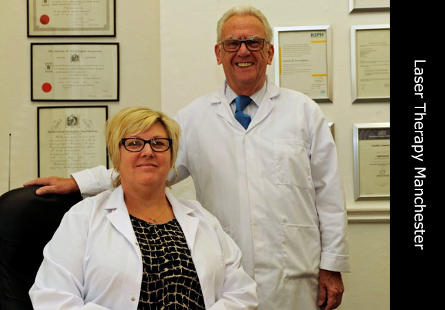 Frank and Joanne the Trichologists at Invisi laser hair restoration clinic in Manchester UK