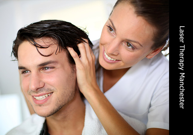 Handsom young man from Manchester being treated for hair loss in the UK