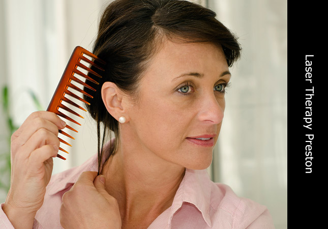 Hair and Scalp laser treatment for women in a Preston hair loss clinic UK