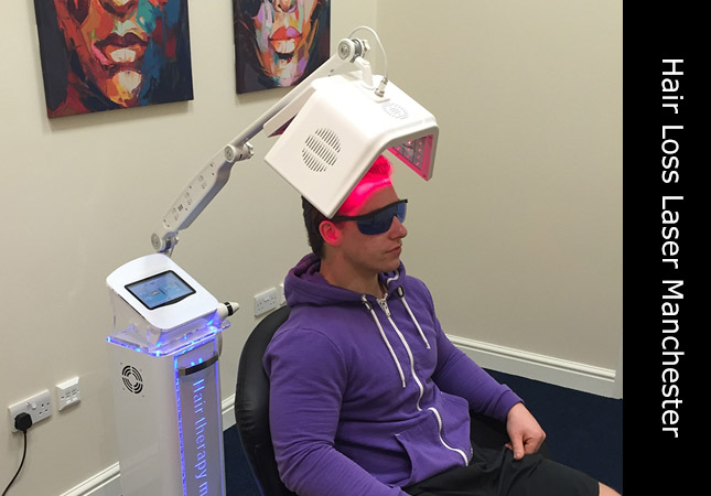 Hair Re-growth treatment using laser LLLT at Chambers Business Centre Manchester